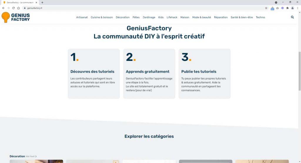 Geniusfactory nouvelle version