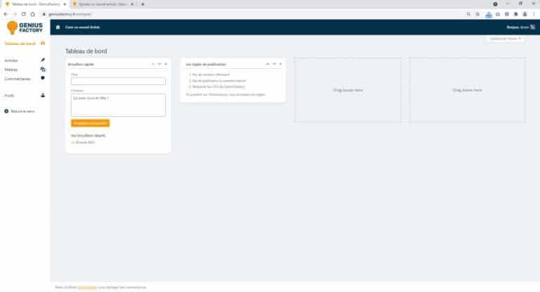Présentation de la nouvelle interface contributeur