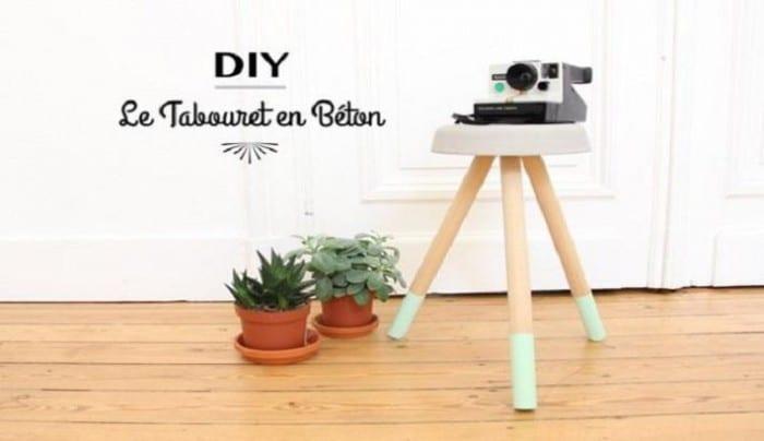 Fabriquez votre tabouret en bois et ciment DIY